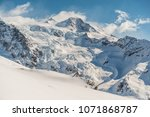 monte rosa with glacier  at... | Shutterstock . vector #1071868787