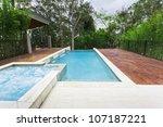 modern backyard with...   Shutterstock . vector #107187221