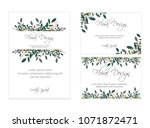 banner on flower background.... | Shutterstock .eps vector #1071872471