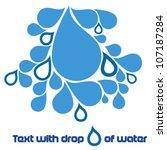 drops of water | Shutterstock .eps vector #107187284