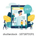 vector illustration  customer... | Shutterstock .eps vector #1071873191