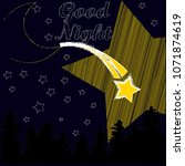 good night.night scene with... | Shutterstock .eps vector #1071874619