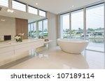 modern bathroom in luxury... | Shutterstock . vector #107189114