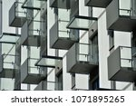 modern and new apartment... | Shutterstock . vector #1071895265