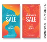 summer sale banner template.... | Shutterstock .eps vector #1071903347