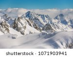 a wintertime view from mt.... | Shutterstock . vector #1071903941