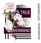 print for t shirt with... | Shutterstock .eps vector #1071904595
