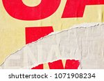 old vintage ripped torn posters ... | Shutterstock . vector #1071908234