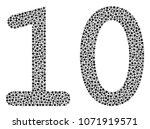ten digits text composition of...   Shutterstock .eps vector #1071919571