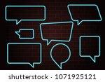 speech bubbles set of outlined...   Shutterstock .eps vector #1071925121