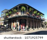 french quarter architecture in... | Shutterstock . vector #1071925799