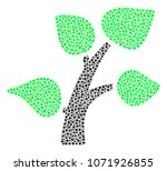 flora plant mosaic of dots in... | Shutterstock .eps vector #1071926855