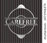 carefree silver badge | Shutterstock .eps vector #1071936374