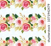 seamless floral pattern with... | Shutterstock .eps vector #1071942479