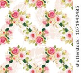 seamless floral pattern with... | Shutterstock .eps vector #1071942485