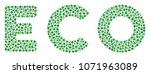 eco text collage of dots in... | Shutterstock .eps vector #1071963089