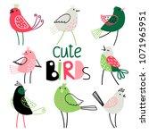collection of cute birds | Shutterstock .eps vector #1071965951