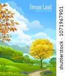 dream land of spring and summer | Shutterstock .eps vector #1071967901