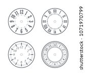 clock face set with roman and... | Shutterstock .eps vector #1071970799