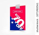 70  off sale discount sticker.... | Shutterstock .eps vector #1071983561