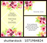 invitation with floral... | Shutterstock .eps vector #1071984824