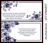 invitation with floral... | Shutterstock .eps vector #1071984857