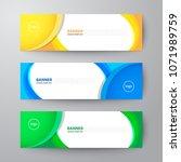 modern geometrics banners web... | Shutterstock .eps vector #1071989759