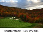 golf course nestled in the... | Shutterstock . vector #107199581