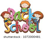back to school symbol with... | Shutterstock .eps vector #1072000481