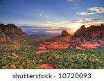 Arizona Red Rocks During Sunset