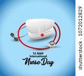 12 may. international nurse day ... | Shutterstock .eps vector #1072012829