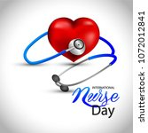12 may. international nurse day ... | Shutterstock .eps vector #1072012841