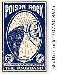 poison rock gig poster flyer... | Shutterstock .eps vector #1072018625