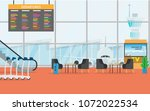 view of space in the airport... | Shutterstock .eps vector #1072022534