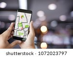 gps map to route destination... | Shutterstock . vector #1072023797