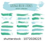 set of colorful ink vector... | Shutterstock .eps vector #1072028225