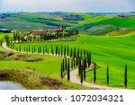 siena  tuscany   april 08 2018  ... | Shutterstock . vector #1072034321