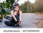 beautiful young female woman...   Shutterstock . vector #1072034435