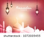 creative arabic pattern with... | Shutterstock .eps vector #1072035455