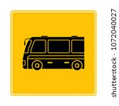 tour bus icon in yellow... | Shutterstock .eps vector #1072040027