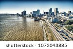 new orleans aerial skyline and...   Shutterstock . vector #1072043885
