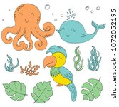 illustration vector doodle set... | Shutterstock .eps vector #1072052195
