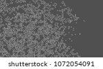 geometric lines and dots. line... | Shutterstock .eps vector #1072054091