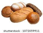 set of different fresh bread...   Shutterstock . vector #1072059911