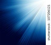 Blue Luminous Rays. Eps 8...