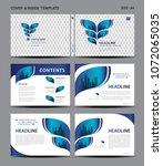 blue cover design and inside... | Shutterstock .eps vector #1072065035