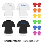t shirt in various colors.... | Shutterstock .eps vector #107206619