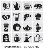 cafe icons | Shutterstock .eps vector #107206787