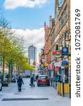 leicester  united kingdom ... | Shutterstock . vector #1072081769