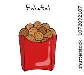 falafel in a box. middle...   Shutterstock .eps vector #1072092107